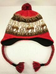 20AW/Chullo WINDSTOPPERR Earflap Beani/ニットキャップ/ウール/RED/総柄