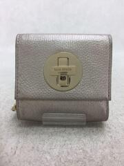 2つ折り財布/ケイトスペード/SLV/無地/WLRU0773/ナターシャ