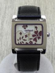 腕時計/アナログ/SLV/BLK