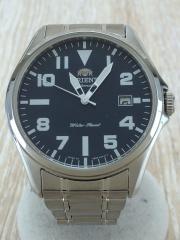 自動巻腕時計/アナログ/BLU/SLV