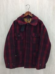 ジャケット/46/ウール/RED/チェック