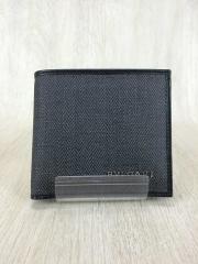 2つ折り財布/--/BLK/無地