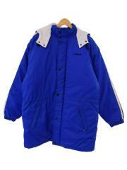 コート/M/ナイロン/ブルー/青/ベンチコート/国旗タグ/80s~90s