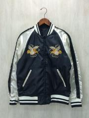 Dragon And Hawk Embroidered Souvenir Jacket/L/ポリエステル/BLK