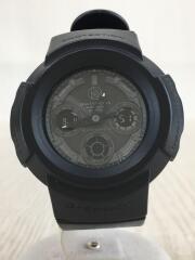 腕時計/デジアナ/ラバー/GRY/BLK