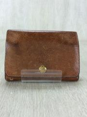 2つ折り財布/レザー/BRW