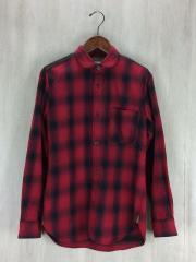 ネルシャツ/XS/コットン/RED