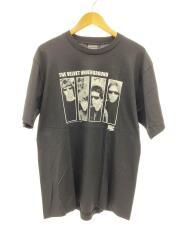 THE VELVET UNDERGROUND/2006年コピーライト//Tシャツ/L/コットン/BLK/無地