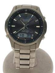ソーラー腕時計・WAVECEPTOR/デジアナ/ステンレス/SLV/SLV
