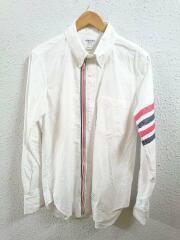 4-Bar Zip-Front Oxford Shirt/ジップフロント/長袖シャツ/2/コットン/WHT