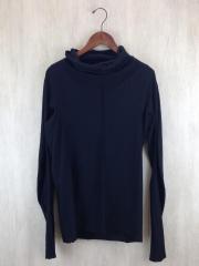 Sentiments/High Neck Long Sleeve/15-16AW/長袖Tシャツ/1/コットン/BLK
