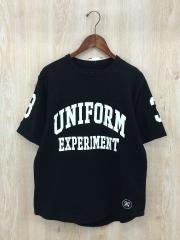 NUMBERING FOOTBALL TEE/Tシャツ/1/コットン/BLK