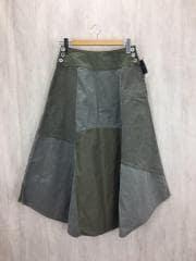 ロングスカート/2/コットン/KHK/パッチワーク