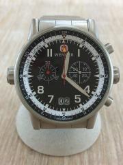 クォーツ腕時計/アナログ/ステンレス/BLK/SLV/7084X