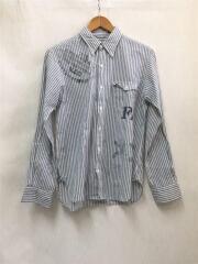 Hang/長袖シャツ/2/--/BLU/ストライプ