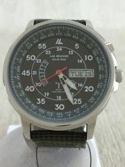 ソーラー腕時計/アナログ/キャンバス/KHK/KHK