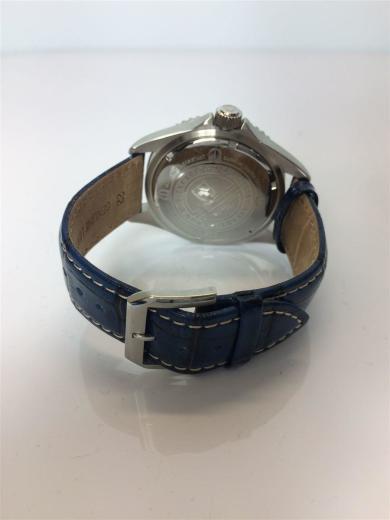 25d2965511 SWISS MILITARY WATCH(スイスミリタリーウォッチ) / Sea Lion/サファイヤガラス/クォーツ腕時計/アナログ/レザー/ネイビー/6-4279/カレンダー  | セカンドストリート| ...