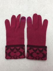手袋/ウール/PNK/無地