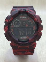 クォーツ腕時計/デジタル/--/RED