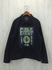 PUBLIC ENEMY WORK JACKET/2018SS/XL/コットン/BLK