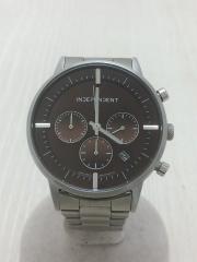 クォーツ腕時計/アナログ/BRW/SLV