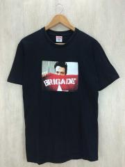 Tシャツ/M/コットン/BLK/BRIGADE