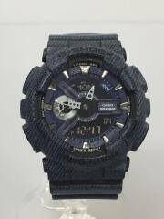 クォーツ腕時計・G-SHOCK/デジアナ/ラバー/NVY/GA-110DC-1AJF