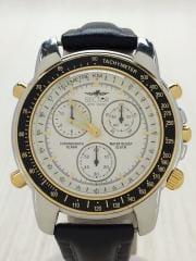 クォーツ腕時計/クロノグラフ/アナログ/WHT