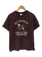 321ST FIGHTER SQ./Tシャツ/M/コットン/ブラウン/プリント/BRW/無地