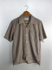 半袖シャツ/3/ポリエステル/GRY/無地/108202001/オープンカラー