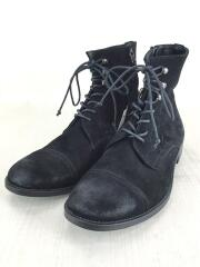 ブーツ/43/BLK/スウェード