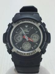 腕時計/デジアナ/ラバー/BLK