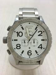 クォーツ腕時計/アナログ/WHT/SLV