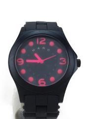 クォーツ腕時計/アナログ/ラバー/BLK/BLK