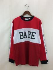 長袖Tシャツ/XL/ポリエステル/RED