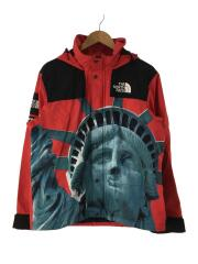 STATUE MOUNTAIN JACKET/S/ナイロン/RED/レッド/FA19/自由の女神
