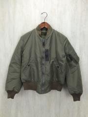 TYPE B-15C/MIL-J-6251/フライトジャケット/M/ポリエステル/KHK/無地