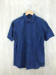 半袖シャツ/M/コットン/BLU