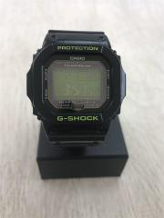 ソーラー腕時計/デジタル/ラバー/GRN/BLK/GW-M5610B