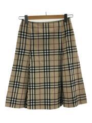 スカート/36/コットン/BEG/チェック/FXA26-020-14