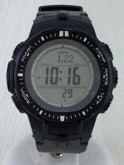 ソーラー腕時計・PROTREK/デジタル/BLK