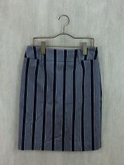スカート/38/コットン/GRY/ストライプ