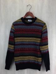 セーター(厚手)/44/ウール/マルチカラー/総柄