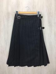 スカート/--/ポリエステル/GRY/ストライプ