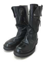 ブーツ/UK9/BLK/レザー