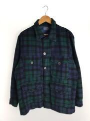 シャツジャケット/ジャケット/L/ウール/NVY/チェック/70~80s