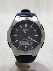 ソーラー腕時計/デジアナ/--/GRY/BLK