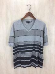 Tシャツ/M/コットン/GRY/ボーダー