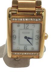 クォーツ腕時計/アナログ/ステンレス/WHT/GLD/14501818/ニューレキシトン