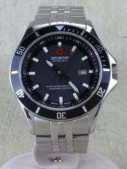HANOWA/6-4161 2/箱、コマ有/クォーツ腕時計/アナログ/ステンレス/BLK